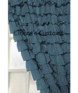 Chiffon MIDNIGHT Ruffle Layered SHOWER CURTAIN (FREE Size Customization) - $129.99