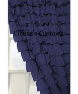 Chiffon NAVY2 Ruffle Layered SHOWER CURTAIN (FREE Size Customization) - $129.99