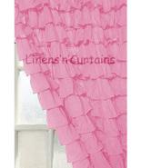 Chiffon PINK Ruffle Layered SHOWER CURTAIN (FREE Size Customization) - $129.99