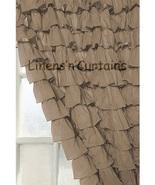 Chiffon TAUPE Ruffle Layered SHOWER CURTAIN (FREE Size Customization) - $129.99