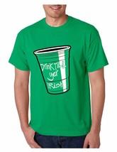 Men's Tee Shirt Saint Patrick's Day Drink Till Yer Irish Irish Shirt - $17.00