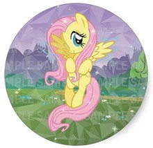"My Little Pony Fluttershy Birthday Edible Image Photo 8"" Round Cake Topp... - $9.99"