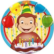 "Curious George the Monkey Birthday Edible Image Photo 8"" Round Cake Topp... - $9.99"