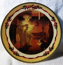 "1998 Lenox Norman Rockwell - Christmas Memories Plate - ""Is He Coming"" - $19.99"