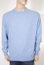Peter Millar Men's Blue Wool Cashmere Cableknit Crewneck Pullover Sweater L - $129.99