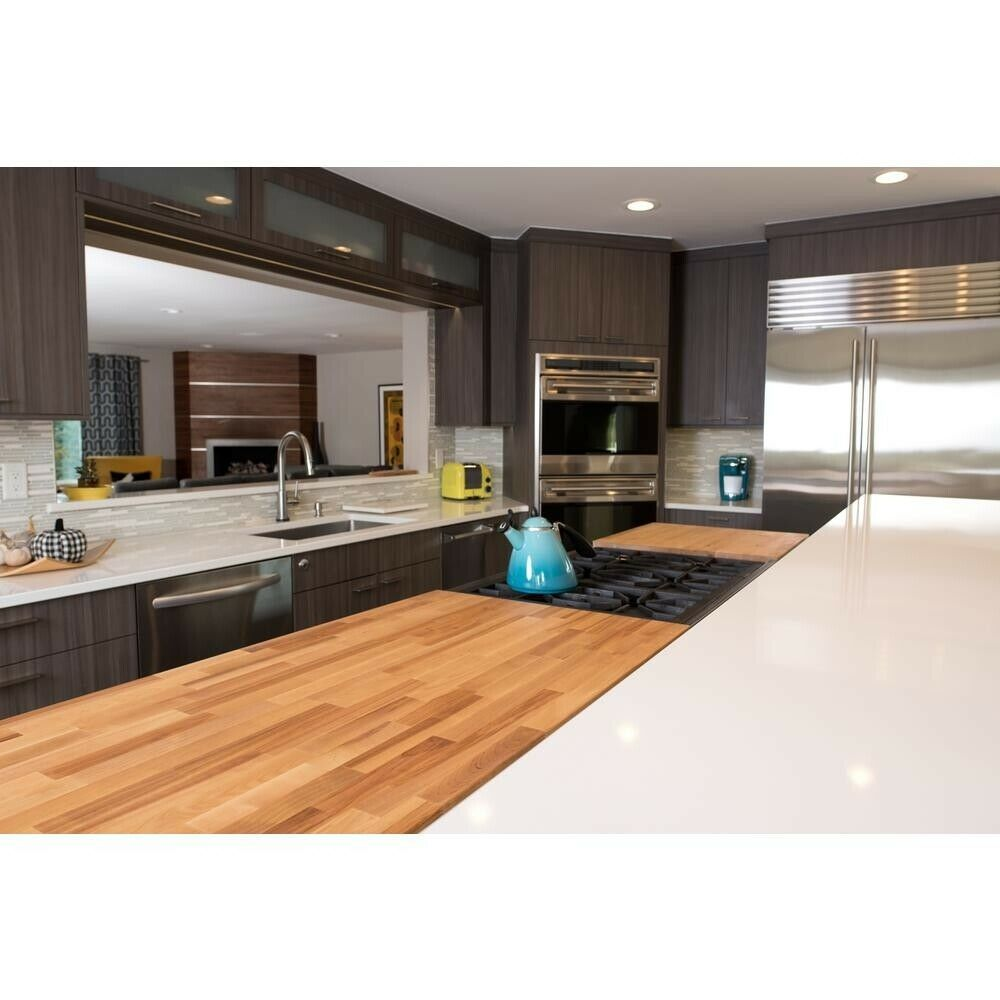Wood Butcher Block Countertop Home Kitchen Office Bar Unfinished Birch - Cutting Boards