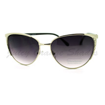 Womens Round Cateye Sunglasses Thin Metal Feminine Style - $7.87+