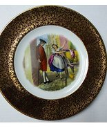 """English Collector Plate """"Cries of London"""" Ironstone Wood & Sons Gold & B... - $25.00"""