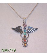 NM-779 - Caduceus Chakra Pendant W/Gemstones.on... - $20.30