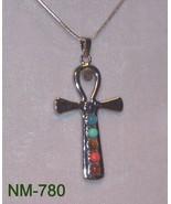 NM-780 - Reiki Chakra Cross Pendant W/Gemstones... - $20.30