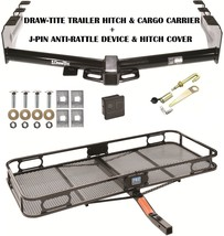 01 07 Gmc Sierra 1500 Hd Trailer Hitch + Cargo Basket Carrier + Silent Pin Lock - $375.83