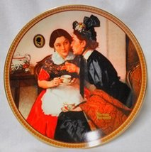 "Norman Rockwell ""Gossiping in the Alcove"" Collector Plate - $14.99"