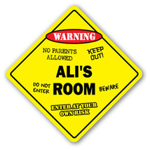 ALI'S ROOM SIGN kids bedroom decor door childre... - $8.89