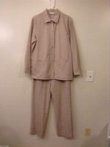 Appleseed's Women's Size 14 Blazer and 12 Pants Casual Beige Suit Coordinate Set