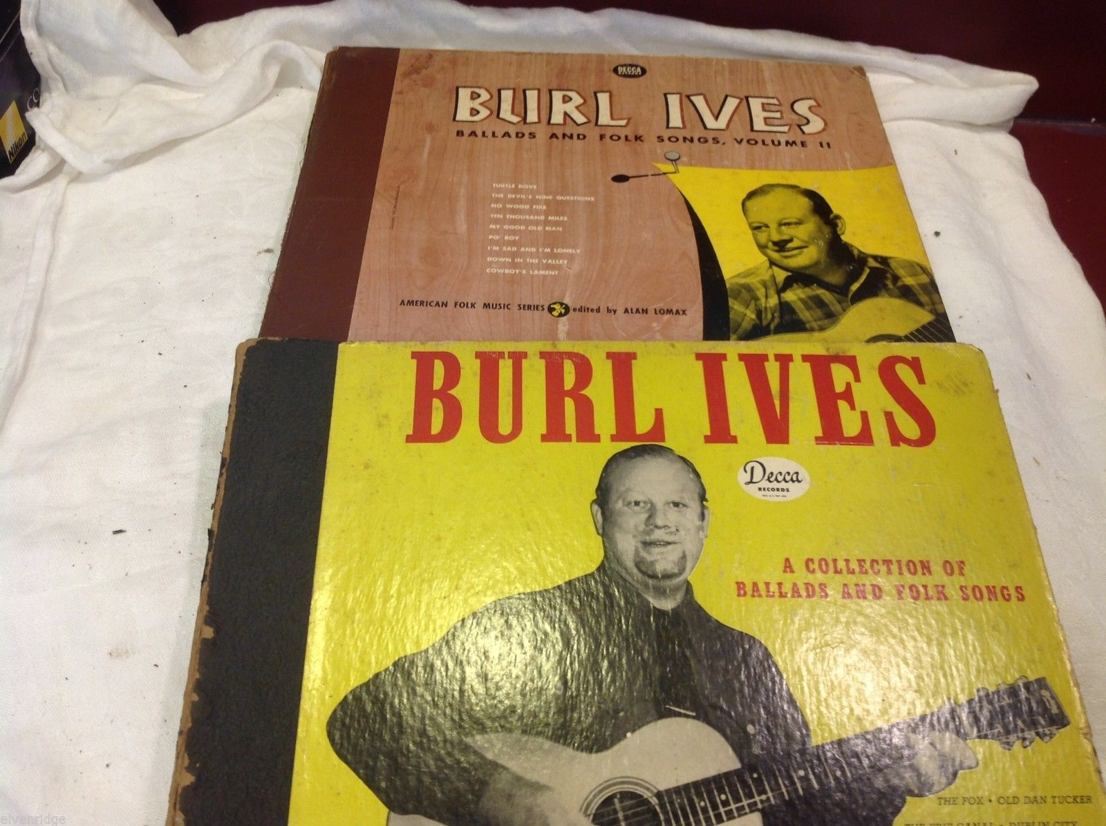 Burl Ives  vintage record set in original sleeves slipcover Ballads Folk Songs