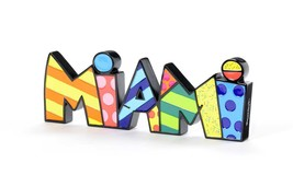 "Romero Britto the word ""Miami"" Table Shelf Decor NEW"