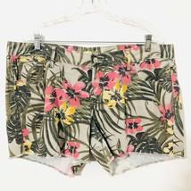 OLD NAVY the DIVA Floral Cutoff 16 Floral Hawaiian Jean Shorts 100% Cotton - $16.14