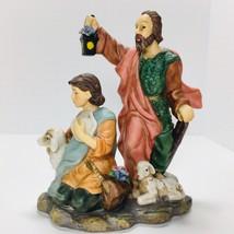 Avon 2002 Holiday Treasures Blessed Visitors Shepherds Christmas Nativity - $18.69