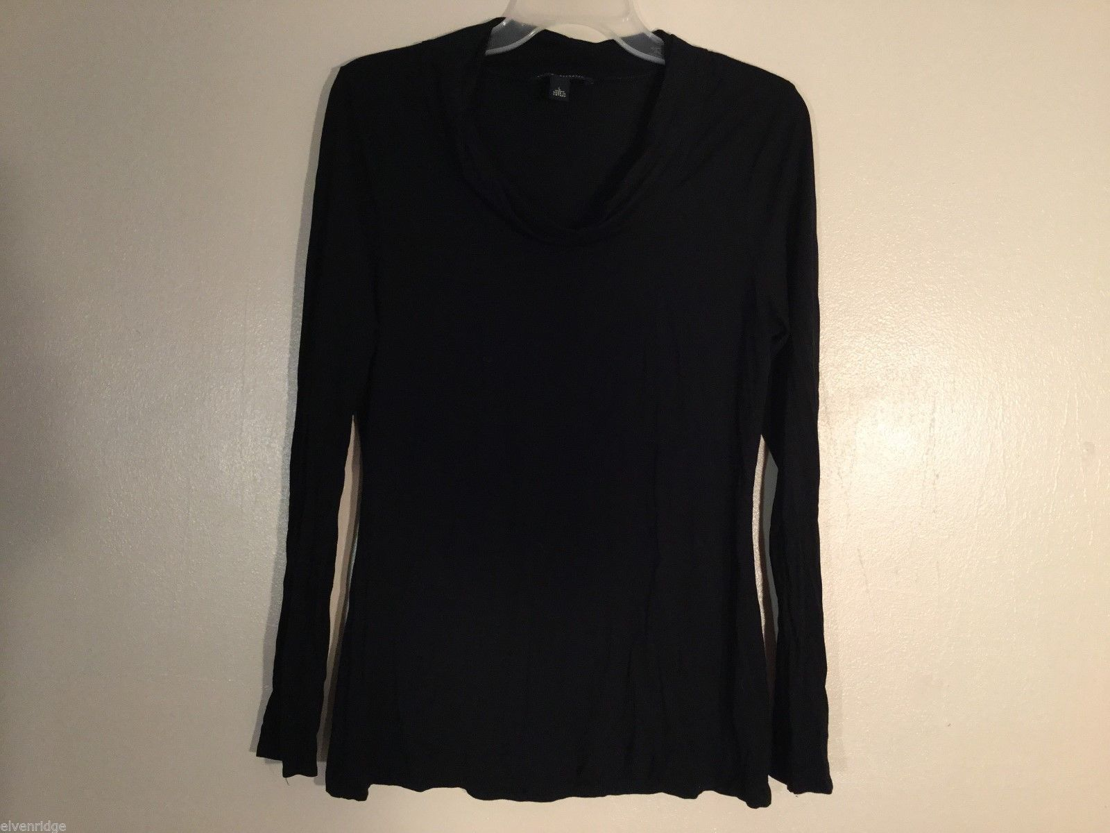 Womens Banana Republic Black Long Sleeve Blouse, size Large
