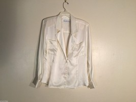 Womens JH Collectibles White Silky Blouse, Size 12 - $34.64