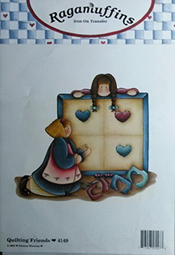 """Ragamuffins Iron-On Transfer - """"Quilting Friends"""" - $6.99"""