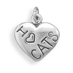 Sterling Silver I Love Dancing Heart Charm