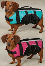 DOG PET PRESERVER LIFE JACKET SAFETY VEST PINK BLUE SWIM WATER Guardian ... - $11.99+