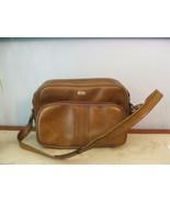 Vintage AIRWAY Escort Bag BROWN Tote Bag 1975 carry-on soft case - $28.71