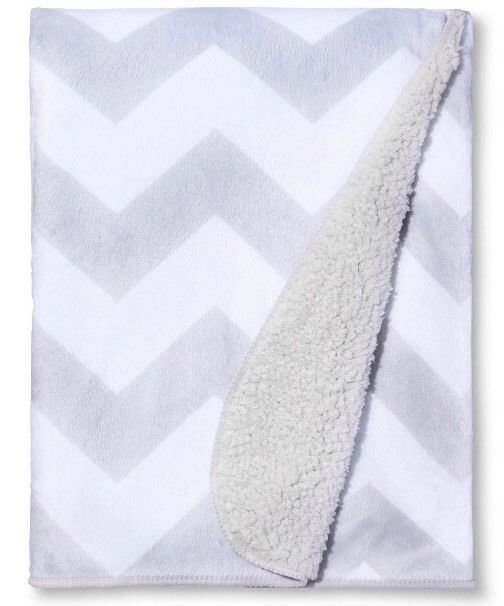 New Circo Super Soft Valboa Navy Chevron Zig Zag Security Baby Blanket