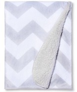 New Circo Super Soft Valboa Navy Chevron Zig Zag Security Baby Blanket - $29.85 CAD