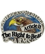 American Heritage The Right to Bear Arms Cast Belt Buckle - $14.99