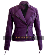 NWT Purple Brando Women Ladies Sexy Stylish Premium Synthetic Leather Jacket - $129.99
