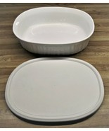 Corning Ware French White 1 1/2 QT. Casserole Dish With Storage Lid/Ligh... - $16.99