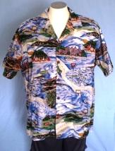 Hilo Hattie 2XL Button Down Hawaiian Shirt with Pocket Surfing Islands A... - $35.00