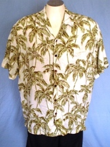 Kalaheo by RJC XL Button Down Hawaiian Shirt with Pocket Palm Tree Leaves - $25.00