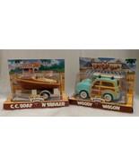 VINTAGE CHEVRON C.C. BOAT 'N TRAILER & WOODY WAGON TECHRON COLLECTIBLE 1... - $39.55