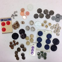 90 Vintage Buttons Rhinestone Metal Plastic All... - $18.99