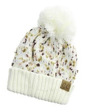 Ivory C. C Exclusives Pom Pom Knitted Beanie - $16.95
