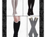 Women's Solid Ribbed Crochet Lace Knit Knee Socks Boot Socks, YOU CHOOSE COLOR
