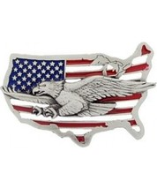 Eagle in Map Cast Belt Buckle - $14.99