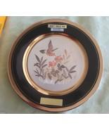 Hummingbird &  Flowers Porcelain Collector Plate Chokin Dynasty Japan LT... - $15.95