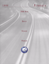 1999 Plymouth FULL LINE brochure catalog 2nd Edition PROWLER NEON VOYAGE... - $8.00