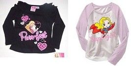 Barbie DC Comics Toddler Girls Long Sleeve T-Shirts Sizes 2T and 4T NWT - $10.49