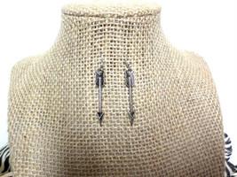 Tribal Silver Arrow Earrings - Boho Silver Arrow Drop Dangle Earrings, gift - $8.50