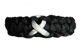 Asthema Grey Awareness Ribbon Paracord Bracelet, gift - $8.50