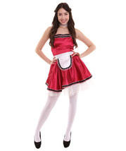Adult Women's French Maid Uniform Costume   Dark Red Cosplay Costume - $23.85