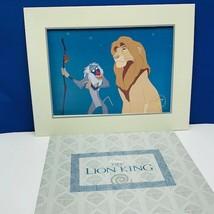 Walt Disney Store lithograph poster print litho 14X11 Lion King Mufasa R... - $17.25