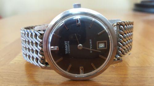 Vintage 60's 70's Tissot Visodate Stylist Winding Men's Wrist Watch