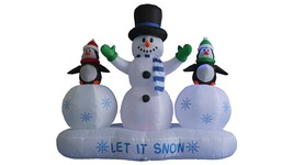 6 FT Christmas Inflatable Snowman Penguins Ice Garden Balloon Decoration... - $119.00