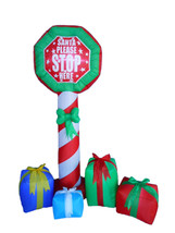Christmas Inflatable Stop Sign Gift Boxes Lights 2015 Yard Outdoor Decor... - $79.00
